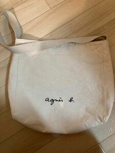 【ほぼ未使用 美品】 アニエスベー agnes b. GO03-03 ロゴショルダーバッグ