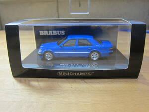 新品 限定品 MINICHAMPS ミニチャンプス 1/43 W124 メルセデス・ベンツ 500E 6.5 BRABUS ブルー