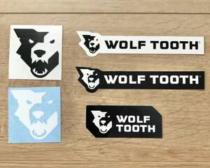 送込 Wolf Tooth ステッカー 5枚セット ウルフトゥース  フレーム デカール グラベル Fox Rock shox blackburn ブラックバーン