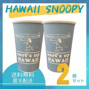 【2個セット】HAWAII サーフ スヌーピー バンブーカップ ブルー