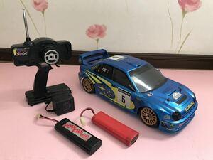 送料無料 1/10 スバル インプレッサ ラリーカー ラジコンカー セット バッテリー 充電器 ジャンク SUBARU IMPREZA