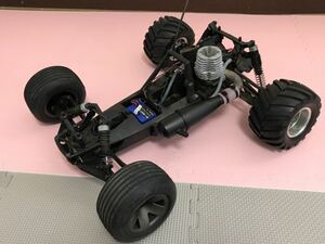 送料無料 HPI オフロードカー エンジンカー メカ付き ラジコン車体 バギー ジャンク レストアに シャーシ