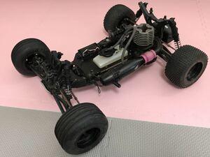 送料無料 HPI エンジンカー メカ付き ラジコン車体 オフロードカー バギー ジャンク レストアに シャーシ