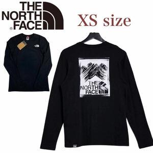 ノースフェイス ロンT 長袖 ボックス Tシャツ NF0A55ACL バックログ ブラック XSサイズ THE NORTH FACE STROKE MOUNTAIN TEE 新品