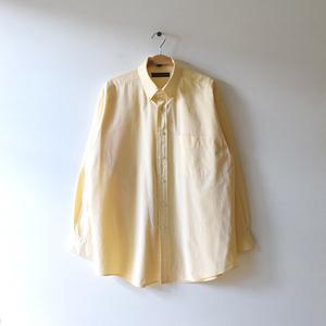【送料無料】トミーヒルフィガー コットン 長袖シャツ BDシャツ ボタンダウン 黄色 チェック柄 メンズXL相当 TOMMY HILFIGER 古着CA0409