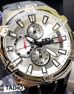 【即決 送料無料 セーム付き】★新作★ 新品 テクノス TECHNOS 正規品 腕時計 クロノグラフ日本製ムーブディスクカレンダーシルバーメンズ