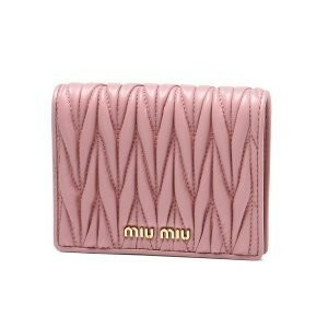 MIUMIU miu miu ミュウミュウ 二つ折り財布 マテラッセコインケース  小銭入れ  財布