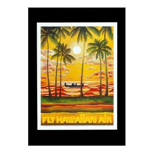 ハワイアンポスター エアラインシリーズ <FLY HAWAIIAN AIR ハワイアンエアラインズ> Z-90805 プリントサイズ:縦28×横20.9cm