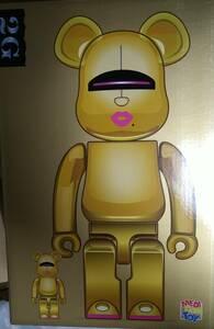 新品未開封 BE@RBRICK SORAYAMA 2G GOLD Ver. 100% & 400% メディコムトイ ベアブリック ソラヤマ ゴールド