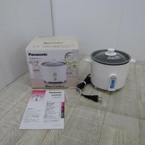 S9011【未使用】パナソニック 炊飯器 1.5合 ひとり暮らし 小型 ミニクッカー ホワイト SR-MC03-W