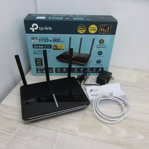 C9547【中古品】TP-Link Wi-Fi 無線LAN ルーター 11ac AC2600 1733 + 800 Mbps MU-MIMO IPv6 デュアルバンド ギガビット Archer A10