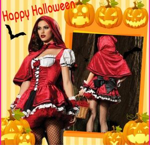 ハロウィン コスプレ 衣装 コスチューム 本格的 ミニドレス ワンピース 赤ずきん 薔薇 マント オシャレ 仮装 人気 格安