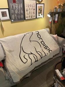 【NORDISK】nordisk ノルディスク ラグ カーペット マット 毛布 ソファーカバー 北欧 インテリア アウトドア キャンプ テント コテージ