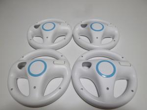 HD007《即日発送 送料無料 動作確認済》Wii マリオカート ハンドル 4個セット きれいです。 ステアリング