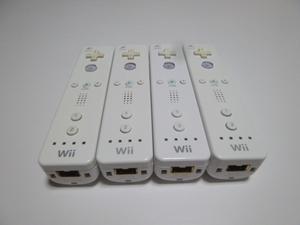 R005《即日発送 送料無料 動作確認済》Wii リモコン 白 4個セット 任天堂 純正 RVL-003 コントローラ コントローラー ホワイト