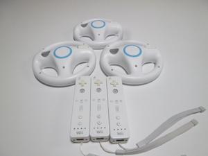 HRS005《送料無料 即日発送 動作確認済》Wii リモコン ハンドル ストラップ 3個セット 任天堂 純正 RVL-003 コントローラ