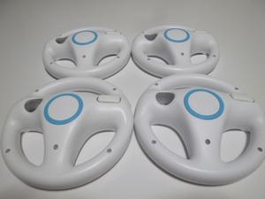 HD023《即日発送 送料無料 動作確認済》Wii マリオカート ハンドル 4個セット きれいです。 ステアリング