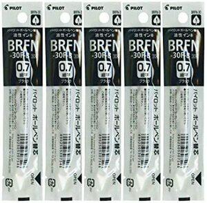 細字 パイロット 油性ボールペン 替芯 アクロインキ 黒色 細字 0.7×5本 BRFN-30F-B