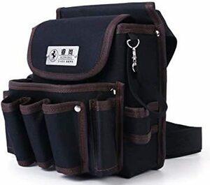 ブラック2 weijiekk ツールバッグ ウエストバッグ 腰袋 作業 収納 工具入れ 電工袋 電工道具袋 工具袋 工具差し
