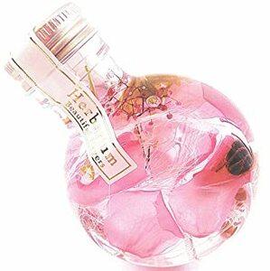 プリンセスピンク バラの花びらハーバリウム プリザーブドフラワーLira 高さ9.5cm ギフトボックス入り 丸瓶 (プリンセス