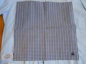 未使用タグ付 米国老舗店Brooks Brothers ブルックスブラザーズ コットン100%のギンガムチェック柄のポケットチーフ