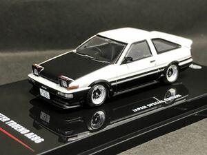 INNO 1/64 トヨタ スプリンター トレノ AE86 ホワイト ブラック 交換ホイール付き 日本限定 即決