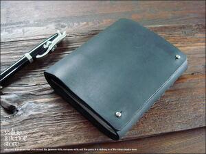 WレザーカードケースCL/BK レザーカードホルダー カード収納 カード入れ 黒 本革 シンプル 牛革 本皮 新品 かっこいい ◆V_S Stati◆CO