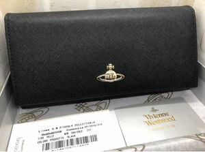 ヴィヴィアンウエストウッド レザー 長財布 黒 未使用 正規品