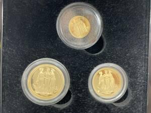 1円~ (200) 世界500セットのみ 2020 スリーグレイセス 三美神 ソブリン 金貨 3枚セット 箱 2g 4g 8g イギリス領オルダニー島