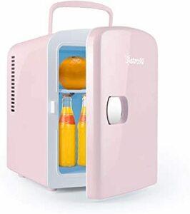 02ピンク AstroAI 冷蔵庫 小型 冷温庫 ミニ冷蔵庫 4L 化粧品 小型でポータブル 家庭 車載両用 保温 保冷 2電源