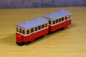 【加工品 動力付き】トミーテック ナロー 猫屋線 単端+二軸客車