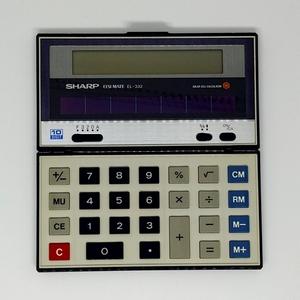 ジャンク★SHARP EL-332 ソーラー電卓