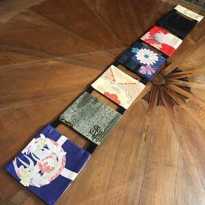 古布のテーブルランナー③ 着物リメイク 敷物 タペストリー アンティーク リメイク 古布 テーブルマット 絹 ハンドメイド レトロ