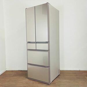 極上品 2021年製 Panasonic 6ドア冷凍冷蔵庫 R-HX52N 真空チルド フレンチドア シャンパンゴールド