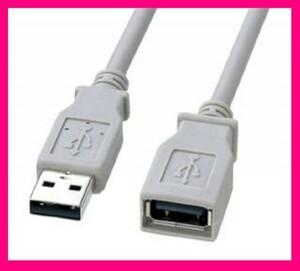 【送料無料:延長ケーブル(1m):USBケーブル】★スマホ 便利 延長 ケーブル★2.0 (USB A オス to USB A メス):コードの長さが足りない時