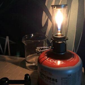 【ガス缶用アダプターも付けました】トロ火が美しい 超軽量 ロウソクランタン 未使用品
