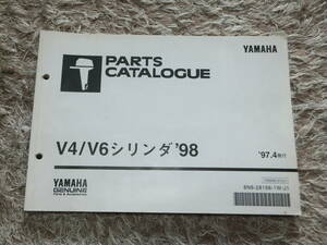 YAMAHA ヤマハ 2サイクル船外機 V4/V6シリンダ 115C~250A / 150G~200Gパーツカタログ(パーツリスト)中古きれい