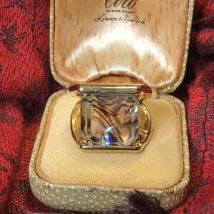シェルリング アンティーク ヴィンテージ クラシック デザインリング 整理品 ロンドン 60s 70s リング 指輪 貝殻 カレッジリング