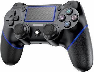 P4 ワイヤレス コントローラー Bluetooth接続 600mAHバッテリー 二重振動 Bluetooth 遅延なし 高耐久ボタン ゲームパット搭載 P4/P3/PC対応