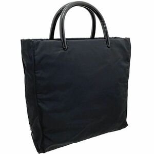 ● プラダ ハンドバッグ プラハンドル トートバッグ テスート ナイロン ブラック 黒 B7969 PRADA 三角ロゴプレート TESSUTO MARE NERO
