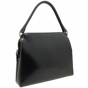 ● プラダ ハンドバッグ レザー 革 ブラック 黒 B11026 PRADA トートバッグ 手提げ バッグ バック カバン 鞄 美品 VITELLO CHIC NERO