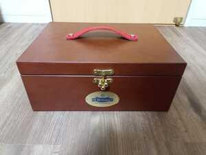 新品 定価2万 M.mowbray シューケアボックス 木箱 メルトニアン サフィール コロニル ブートブラック ブリフトアッシュ