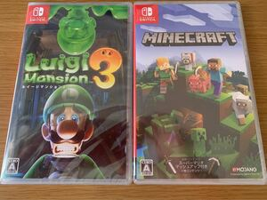 新品 ルイージマンション3 、マインクラフト Minecraft Nintendo Switch