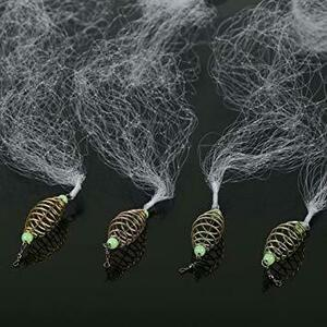 8目 4個 投網 漁具 投げ網 仕掛け網 魚捕り用 釣りネット 漁獲 沈降用釣り フィッシング 釣り具 漁業 仕掛け 7目 8