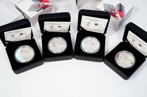 ★バンクーバー 2010 オリンピック 冬季競技大会 公式記念コイン ホログラム 25ドル 銀貨4種 4枚セット 未使用品 迅速対応