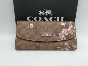 新品未使用 COACH コーチ 花柄 フローラル 長財布