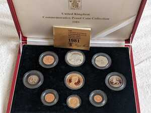 1981年イギリス金貨セット、アンティークコイン