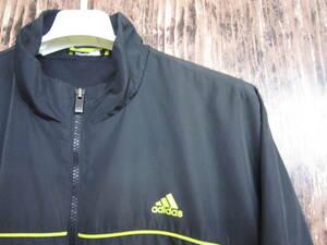 中古 古着 アディダス ナイロンジャケット Lサイズ adidas シャカシャカ ジャージ スポーツウェア トレーニングウェア トラックジャケット