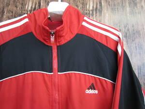 中古 古着 アディダス ナイロン ジャケット Lサイズ adidas メンズ トレーニング スポーツウエア シャカシャカジャージ ウインドブレーカー