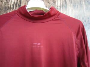 中古 古着 ティゴラ ラッシュガード メンズ XLサイズ TIGORA 赤 レッド 長袖Tシャツ スポーツウエア トレーニングウエア 吸汗速乾 送料無料
